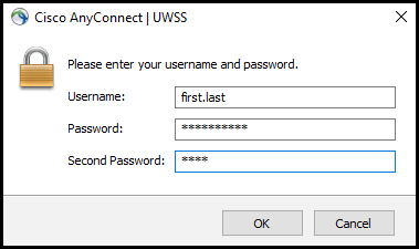 Login to AnyConnect