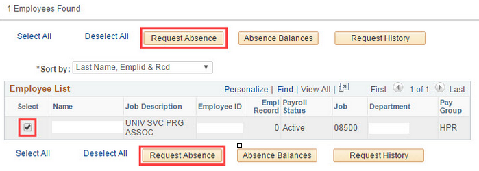 9.2 Replace Request Absence