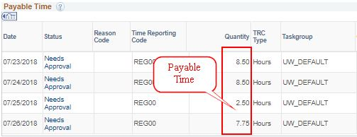Payable Time