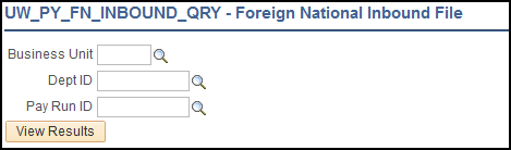 Foreign National Inbound File Query